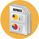 data reporting icon