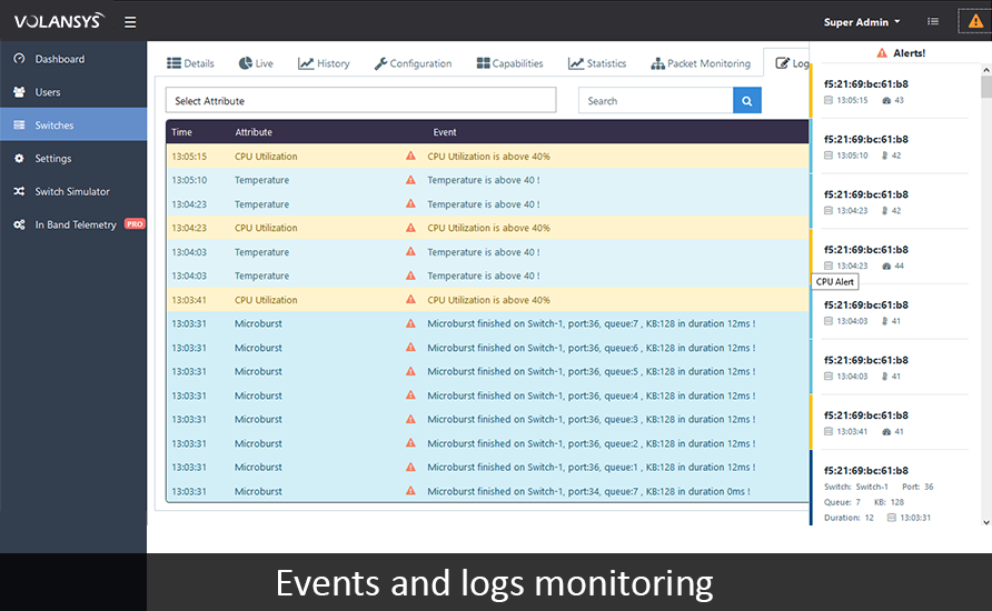 VOLANSYS-Events-and-logs-monitoring