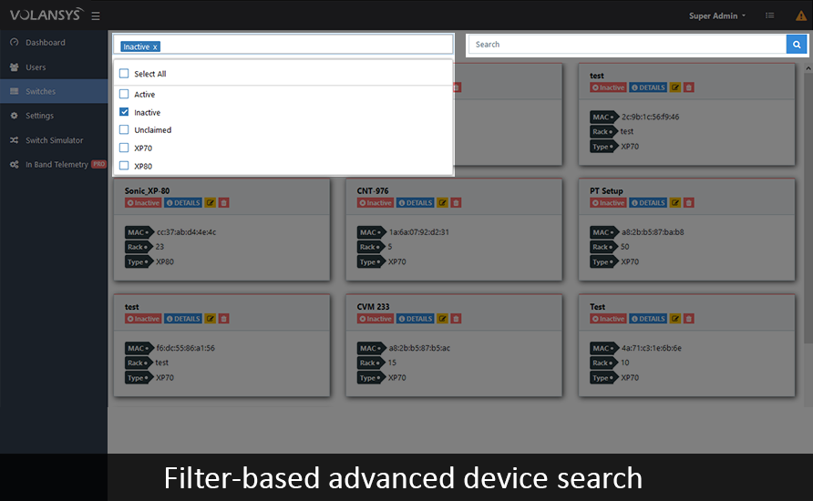 VOLANSYS-Network-Configuration-Filter-based-Advanced-Search