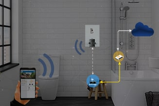 Cloud connectivity to water heaters